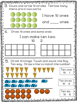 Kindergarten Math Module 5 Quick Check - Topic A