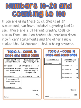 Kindergarten Math Module 5 Quick Checks