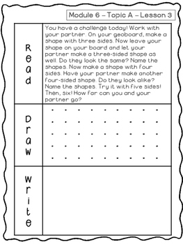 Kindergarten Math Module 6 Application Problems