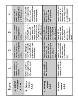 Kindergarten Math Module 6 End of Module Assessment