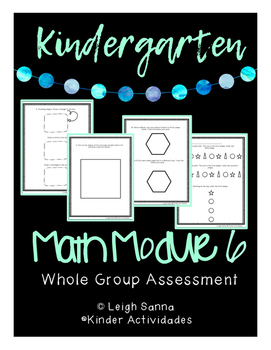 Kindergarten Math Module 6 End of Module Assessment