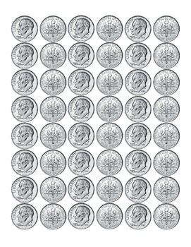 Kindergarten Math Money Counting Page of Dimes Front Back Critical Thinking