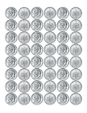 Kindergarten Math Money Counting Page of Dimes Front Back