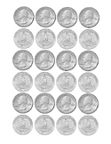 Kindergarten Math Money Counting Page of Quarters Tools fo