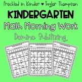Kindergarten Math Morning Work Domino Subitizining