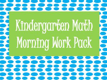 Kindergarten Math Morning Work Pack