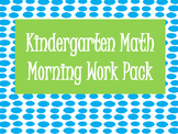 Kindergarten Math Morning Work Pack