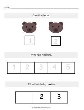 Kindergarten Math [Morning Work or Homework]
