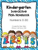 Kindergarten Math Notebook Numbers 0-30