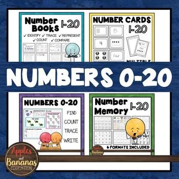 Kindergarten Math Number Megabundle for Numbers 0-20