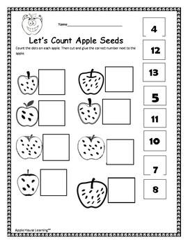 Kindergarten Math ~ Number Sense ~ Cut & Paste Activities NO PREP