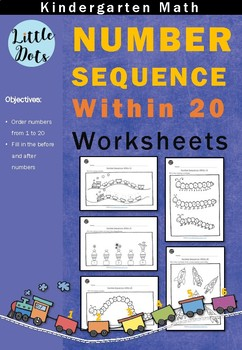 Number Sequence within 20 Worksheets for Kindergarten