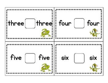 Kindergarten Math Number Word Comparison