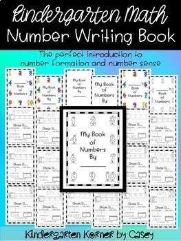 Kindergarten Math Number Writing Book Number Formation Number Sense 1-10