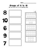 Kindergarten Math - Numbers 0-10 - Groups of 6 to 10