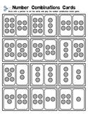 Kindergarten Math - Numbers 0-10 - Number Combinations - Partner Game