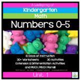 Kindergarten Math Curriculum | Numbers 0-5 | Unit 1