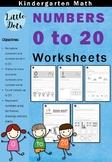 Numbers 0 to 20 Worksheets for Kindergarten