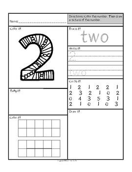 Kindergarten Math Numbers
