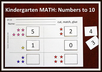Kindergarten MATH Worksheets: Counting to 10
