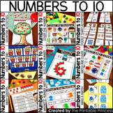 Kindergarten Math: Numbers to 10 / Numbers 1-10 BUNDLE