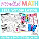 Kindergarten Math: Numbers to 10 - FREE Lesson & Activitie