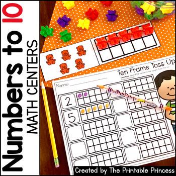 Kindergarten Math Centers: Numbers to 10