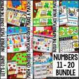 Kindergarten Math: Numbers to 11 - 20 GROWING BUNDLE