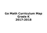 Kindergarten Math Pacing Calendar