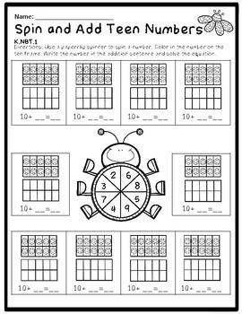 Kindergarten Math Pack