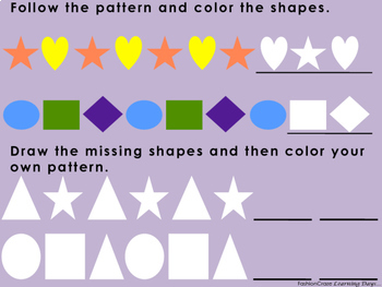 Kindergarten Math with Counting, Shapes, Patterns, Addition and More