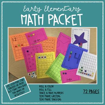 Kindergarten Math Packet