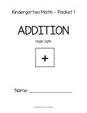 Kindergarten Math Packet (Addition with 1 - Digit)