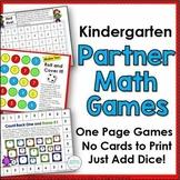 Kindergarten Math One Page Games
