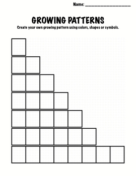 growing patterns teaching resources  teachers pay teachers  kindergarten math  patterns  growing patterns