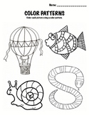 Kindergarten Math - Patterns Packet