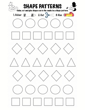 Kindergarten Math - Patterns - Shape Patterns