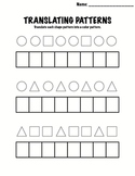 Kindergarten Math - Patterns - Translating Patterns