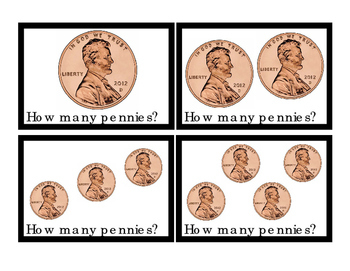 Kindergarten Math Pennies How Many Addition Numbers To 10 Printable Cards 3pages