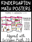 Kindergarten Math Posters: TOPIC 1 (Aligned with EnVision