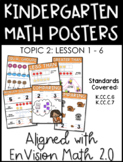 Kindergarten Math Posters: TOPIC 2 (Aligned with EnVision