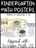 Kindergarten Math Posters: TOPIC 3 (Aligned with EnVision