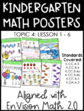 Kindergarten Math Posters: TOPIC 4 (Aligned with EnVision
