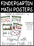 Kindergarten Math Posters: TOPIC 5 (Aligned with EnVision