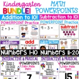 Kindergarten Math PowerPoints BUNDLE | Distance Learning Math