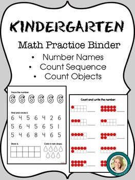 Kindergarten Math Practice Binder