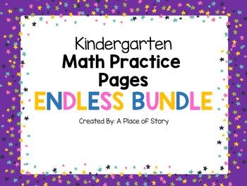 Kindergarten Math Practice ENDLESS BUNDLE