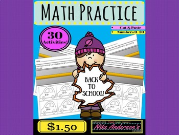 Kindergarten Math Practice (numbers 0-20)