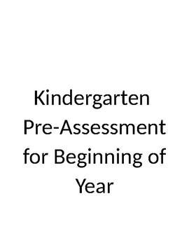 Kindergarten Math PreAssessment
