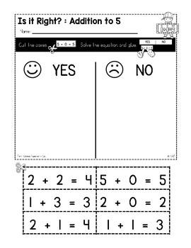 Kindergarten Math Print a Standard FREEBIE {No Prep Math Sheets}